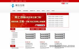 大气红色IDC服务器销售行业模板,虚拟主机公司网站