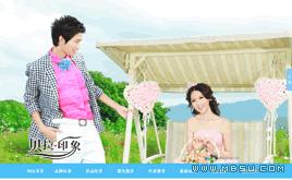 织梦婚纱摄影网站源码(高端大气蓝色精致),HTML5