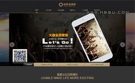织梦黑色集团公司企业通用网站模板