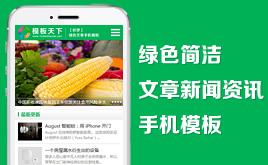 织梦DedeCMS绿色简洁文章资讯手机模板