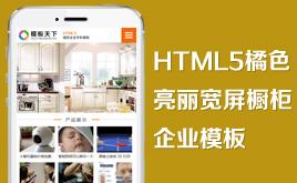 织梦H5橘色企业手机模板