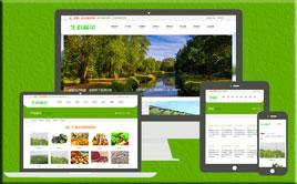 个性生态果蔬类企业网站织梦模板(自适应手机端)