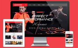 dede健身器材体育用品运动服装加盟连锁店网站织梦模板