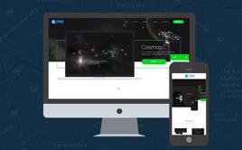 高端创意网页设计网络工作室太阳城娱乐带手机端织梦模板