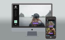 旅行摄影个人作品分享网站织梦模板(自适应手机端)