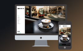 咖啡奶茶餐饮类企业招商加盟网站模板(自适应手机端)