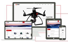 创意电子设备产品展示织梦模板带手机端