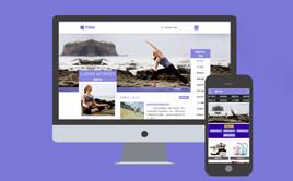 紫色大气养身健身瑜伽培训类网站织梦模板(带手机版)