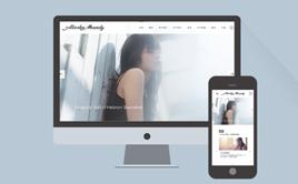 HTML5高端广告摄影展示类响应式织梦模板(带背景音乐)