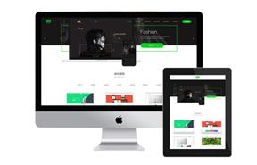 绿色交互设计,网页设计网络公司网站织梦模板+wap手机站+测试数据