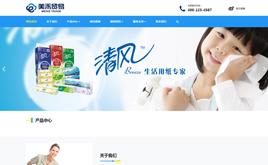 贸易出口清洁用品类网站织梦模板(自适应手机端)