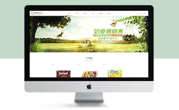 响应式日化食品零食类网站织梦模板(自适应手机端)