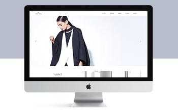 响应式服装时装设计类简约设计网站织梦模板