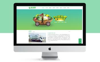 瓜果蔬菜配送企业网站模板