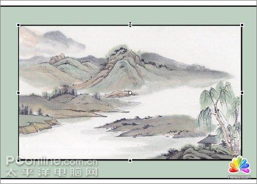 卷轴手绘白色背景